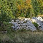 The ruins of Romanian bridge named Fajeri