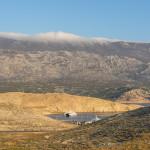 Mišnjak port, in background is North Velebit mountain.