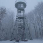 The metal tower on the Japetić peak
