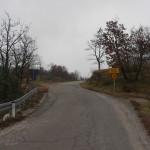 The paved road in Sveta Jelena