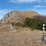 The downhill section from Vojak to Mala Učka village