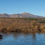 The view towards Svilaja mountain from Cetina river