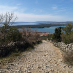 The trail above Punat
