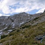 I left the bike at this place and than hiked to Veliki Troglav peak