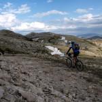 The carriageway on the ridge of Dinara mountain