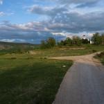 The paved road in Bitelić village