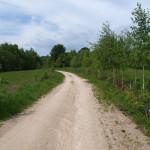 The unpaved road towards Sekulići village