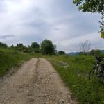 The trail in Jezernice village