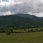 Borašnica summit. The view from Borci village.
