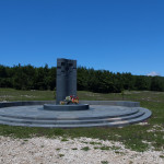 The monument in memory of Croatian soldiers