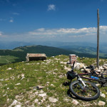 At Idovac peak. This is the highest elevation point of Raduša mountain.