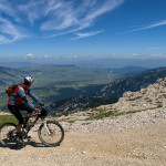 The ride on the ridge of Čvrsnica mountain.