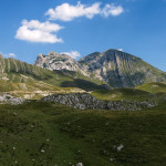 Durmitor mountain, seen from the trail. In the background is Prutaš summit.
