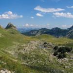Durmitor mountain. Stožina peak and the lake named Valovito Jezero.