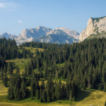 Durmitor mountain. The view from Ćurevac vantage point.