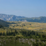 Durmitor mountain. The view from the descent section of the Štuoc summit.