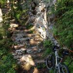 The short hiking section around Crno Jezero.