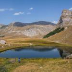 The lake named Jagodino Jezero. In the background are Volujak mountain and Klek peak (right).