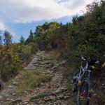 The rocky singletrack from Gospa Od Pompeja to the highway