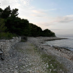 The trail along the coast of The Island of Brač