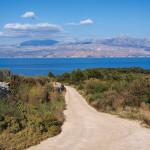 The trail above Postira