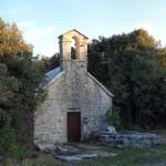 Svi Sveti chapel next to Gornji Humac on The Island of Brač