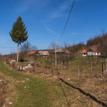 The carriageway in Vidovići village