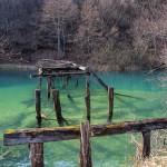 The ruins of the bridge near Vidovići village on Mrežnica river