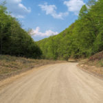Unpaved section to Gornja Bistra