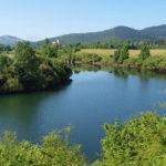 Lika river and Gornji Kosinj village