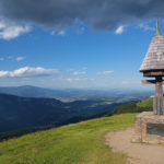 The view from Tromeja (Peč peak) to Austria
