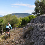 The rocky singletrack section towards Cres town