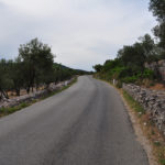 The paved road section above Cres town