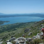 The view from Vitrenik. Below is the lake named Buško Jezero.