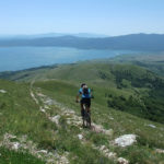 The downhill section from Vitrenik to Prisoje and the lake named Buško Jezero