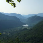 The view from the trail on the lake Boračko Jezero