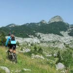 The ride on the labeled singletrack at Crno Polje on Prenj mountain.
