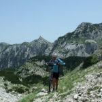The steep ascent to the junction below Zelena Glava peak