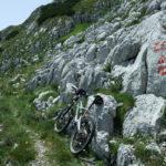 The junction below Zelena Glava peak.