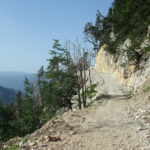 The carriageway section above Neretva canyon. The carriageway leads from Tisovica to Bijela.