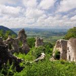The ruins of Cesargrad castle.