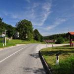 The crossroad on the highway Bistrica ob Sotli - Bizeljsko