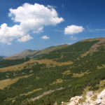 The section along the ridge of Vranica mountain