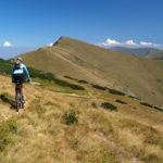 The singletrack on the ridge of Vranica mountain.
