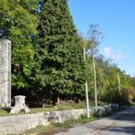 The monument and fountain in Zrmanja Vrilo village