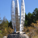 The WWII monument on the section from Poštak to Plavno