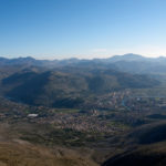 The view from Leotar to Trebinje and Orjen mountain