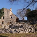 The ruins of Žanjevići village