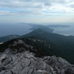The view from Osoršćica to the ridge of The Island of Lošinj