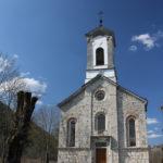 The church in Smiljan village